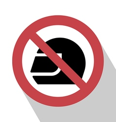 No Helmet Sign vector image