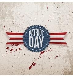 Patriot day memorial realistic tag vector
