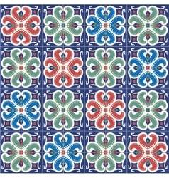 Seamless pattern moroccan portuguese tiles vector