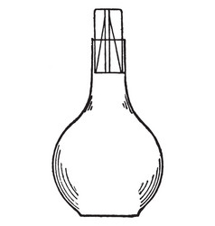Specific gravity bottle vintage vector