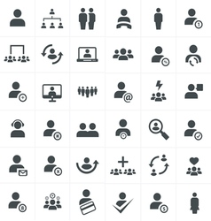 Team work icon set vector