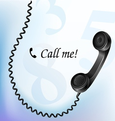 Telephone with wire vector image