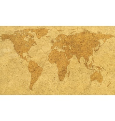 Textured world map vector