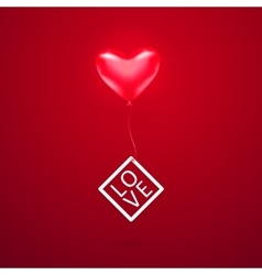 Romantic element with red vector