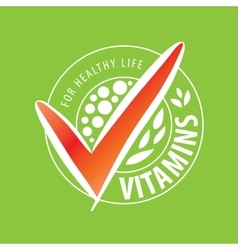 Logo vitamins vector