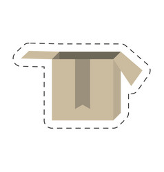 cartoon cardboard box delivery vector image