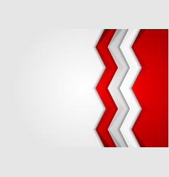 Contrast red and grey tech arrows background vector