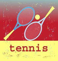 poster tennis vector image