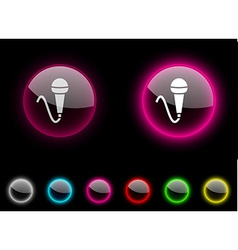 Mic button vector