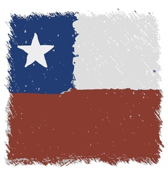 Flag of chile handmade square shape vector