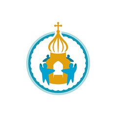 Church fundraising logo template vector image