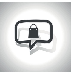Curved shopping message icon vector