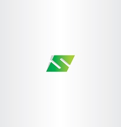 Green logo letter s number 5 five vector