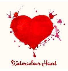 Watercolor heart - vector