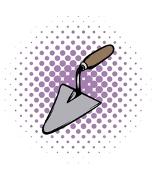Trowel comics icon vector