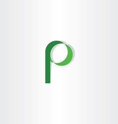 Green p letter symbol logotype element icon vector