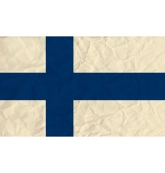 Finland paper flag vector
