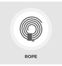 Rope flat icon vector