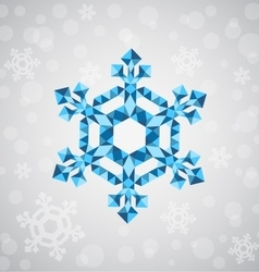 Christmas snowflake of geometric shapes vector