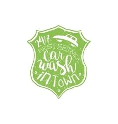 Carwash Green Vintage Stamp vector image