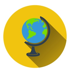 Flat design icon of globe in ui colors vector