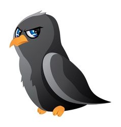 Cartoon raven vector image vector image