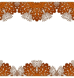 Chocolate flower lace pattern vector