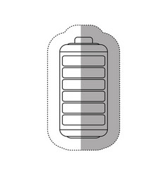 Contour battery exhausted icon vector