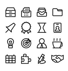 Crisp business icons vector