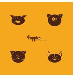 Cute animals faces vector