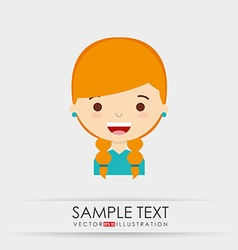 Cute kids design vector
