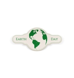 Earth Day Globe Banner Template vector image