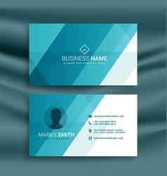 Elegant clean blue business card design in vector