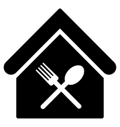 Food court flat icon vector