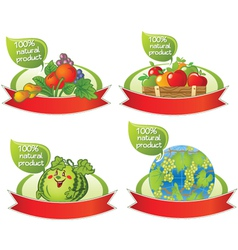 Natural food banners vector image vector image