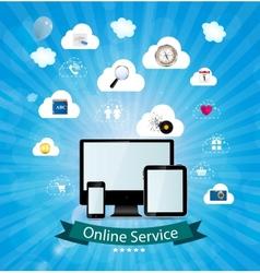 Online service concept vector image