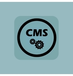 Pale blue cms settings sign vector