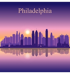 Philadelphia city skyline silhouette background vector