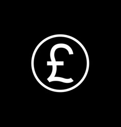 Pound sterling coin solid icon finance business vector