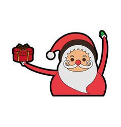 santa claus christmas character icon image vector image vector image