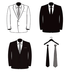 Suit coats one color vector