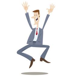 happy trader cartoon vector image