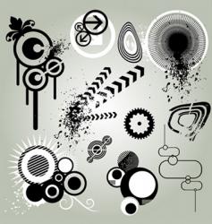 retro design element vector image