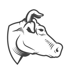 Cow head icon isolated on white background design vector