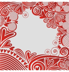 Romantic pattern background hearts vector