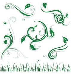 Floral ornaments set vector image
