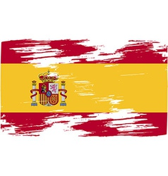 Flag of spain with old texture vector
