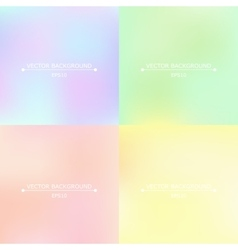 Set of four bright blurry backgrounds vector