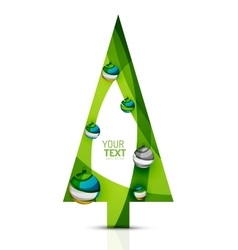 Merry christmas tree modern abstract geometric vector