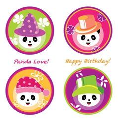 fun panda vector image